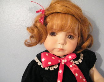 Dianna Effner Porcelain Doll Kayla from the Expressions series, Vintage 24 inch Porcelain Doll has amazing eyes, collector doll