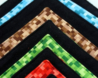 Minecraft-Inspired Cloth Lunch Napkins (5 pack)
