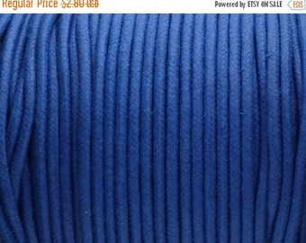 40% OFF Round waxed cord 2mm - Made in EU - Royal Blue - 6ft/2yds