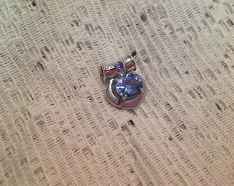 Vintage Sterling Blue Topaz pendant