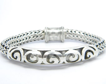 Funky and Chunky Sterling Silver Bracelet