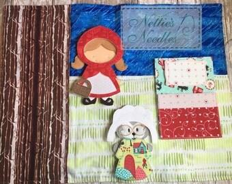 Red Riding Hood Felt Doll Play Mat Set, Dress Up Felt Dolls, Play Mat, Birthday Gift, Little Red Riding Hood