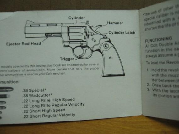 Colt detective Special Manual