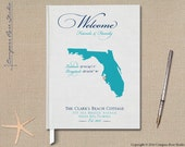 Personalized Family Vacation Home Guest Book, State Map Guest Book, Cottage Guest Book, Rental Property Guest Book, Housewarming, Any State