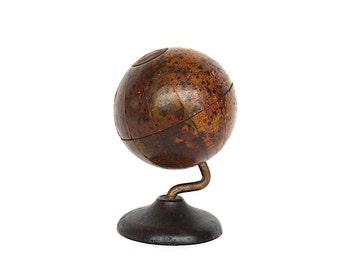 Vintage World Globe - Antique Cast Iron Still Bank - Antique World Globe - Miniature Globe - Antique Toy Bank - Denoyer Geppert Globe