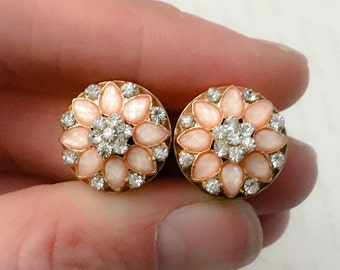 Sparkling Flower Wedding Plugs, gauges  1/2, 9/16