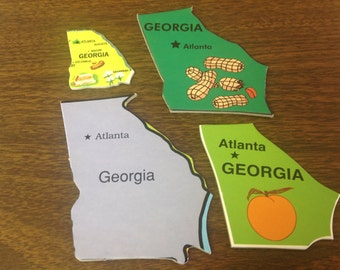 Lot #7 GEORGIA 4 puzzle pieces