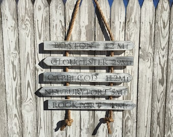 Rustic Wood Sign, Wood Wall Sign, Custom Wood Sign, Cape Cod Sign, Beach Sign, Coastal Living Decor, Beach Wall Art