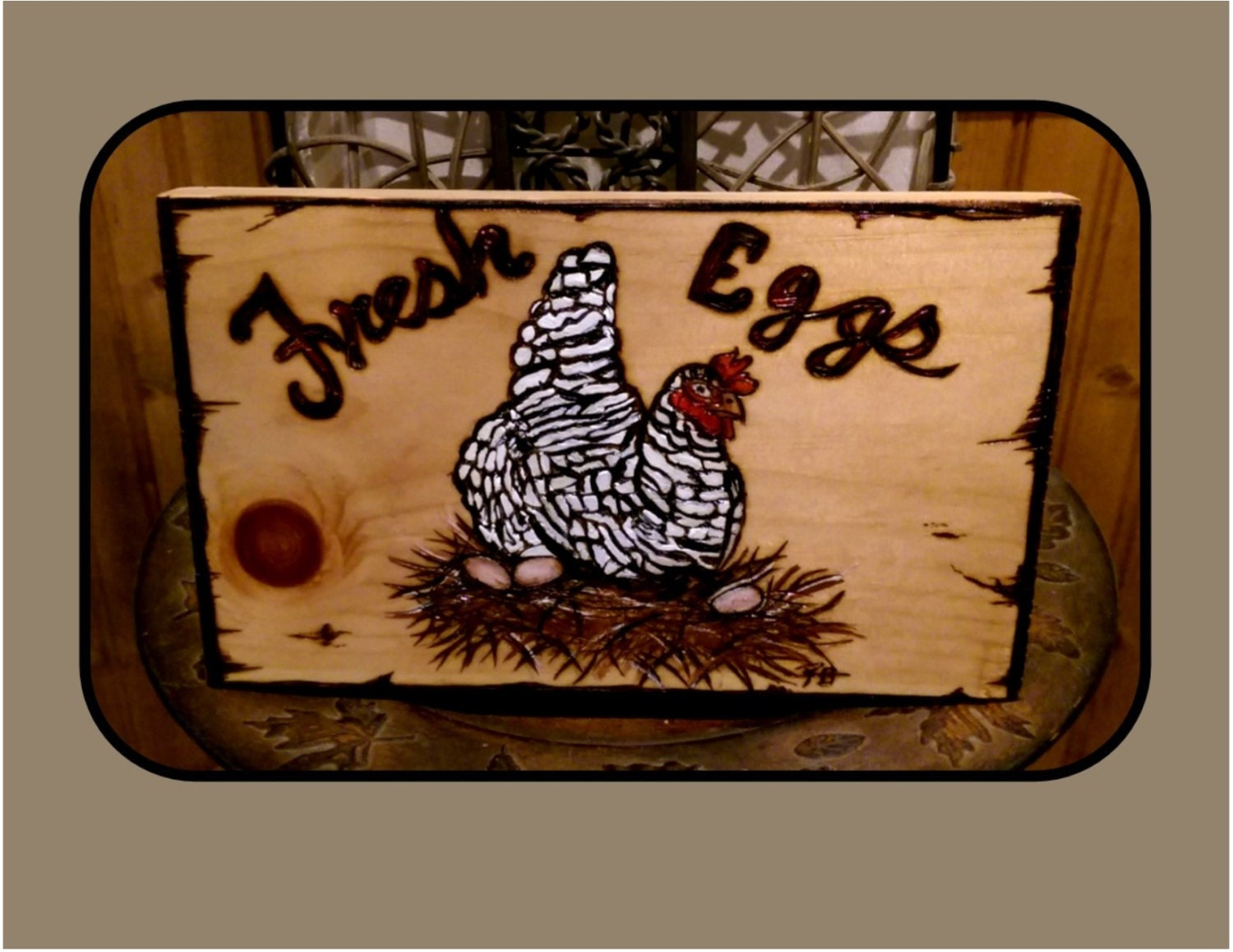 Cool Gifts Wood Anniversary Gift Idead Wife Gift Chicken