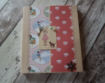 Mini album folder, size 21 cm x 18 cm (8.5 inch x 7 inch)