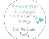12 Boy Hospital Nurse Stickers, Nurse Gift Bags, Thank You Stickers, Sweet Baby Stickers, Thank You Labels, Hospital Stay Labels