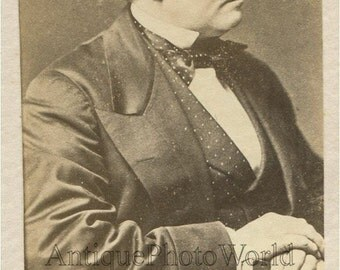 UK Prime Minister Edward Smith Stanley Lord Derby antique photo
