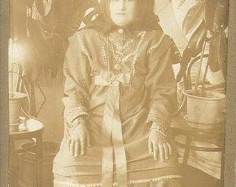 Georgia woman in ethnic dress cabinet photo 1900 Russia
