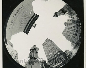 City monuments w fish eye lens art photo
