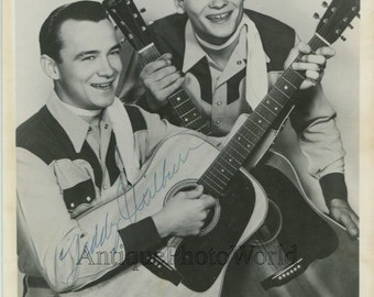 Teddy and Doyle Wilburn Brothers country music singers hand signed vintage photo
