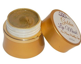 Golden Plumping Lip Mask With Vita-Marine Avocado, Argan oil, Caffeine and More!
