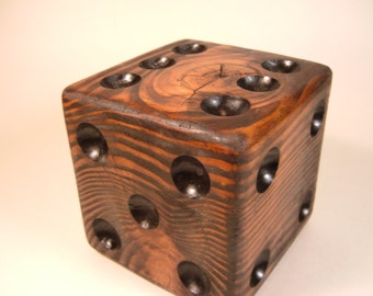 Red Mahogany Wooden Lawn Dice** Large Wooden Die**Lawn Dice** Single Die