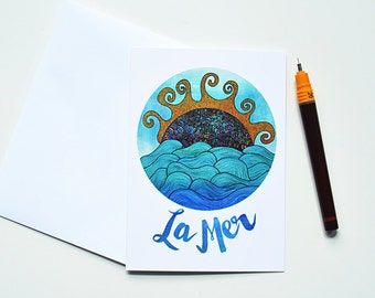 La Mer Greeting Card | Thank You Card | Birthday Card | Notecard
