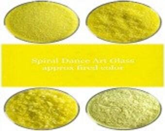 Bullseye COE 90 Canary Yellow Opal Kiln Fusing Glass Frit~ 2oz Choice