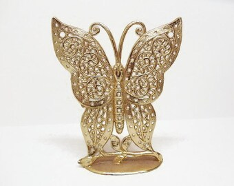 Vintage Earring Display Stand - Large Butterfly - Holds Lots of Earrings