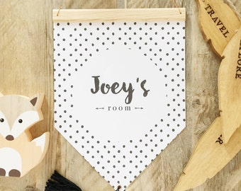 Personalised hanging wall flag