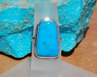 Turquoise Silver Ring Size 5.5