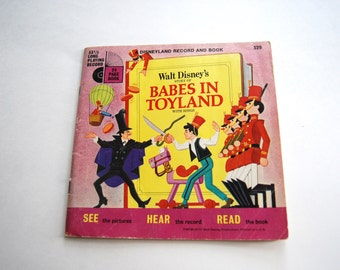 Vintage Children's Book, Walt Disney's Story of Babes in Toyland