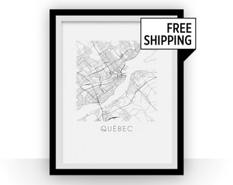 Quebec Map Print