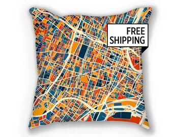 Newark Map Pillow - New Jersey Map Pillow 18x18