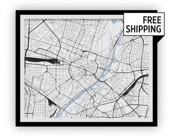 Munich Map Print - Any Color You Like