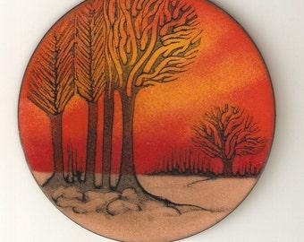 MODERNIST ART ENAMEL by Anita Trottier