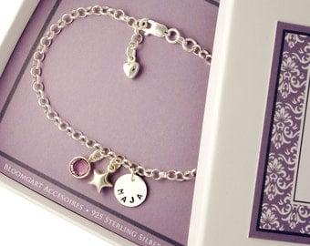 925 silver baptism bracelet baby, baptismal jewellery engraving