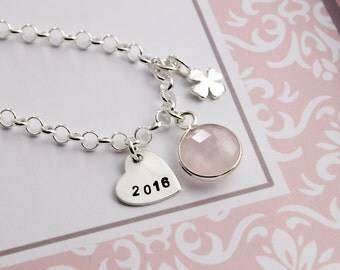 Lucky charm bracelet pregnancy with gift box