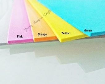5pcs Mixed Colors Foam Sheets|Eva Form for Doll Craft|Pink Eva Form|Yellow Eva Form|Form Craft|Kids Craft|Orange Eva Form