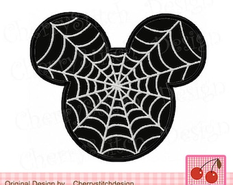 Halloween Mickey Mouse ears Machine Embroidery Applique Design - 4x4 5x5 6x6 inch