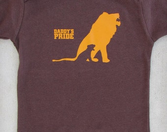 Father Son Lions Baby Boy Cool Graphic Tee - Daddy's Pride