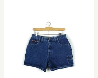 STORE WIDE SALE Vintage High Waist Blue Denim Shorts from 80's/W28*