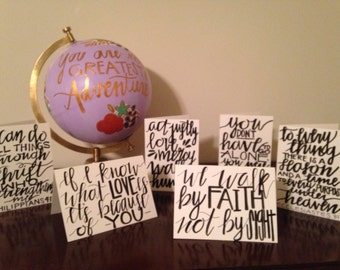 Bible Verse Greeting Cards- Set of 6
