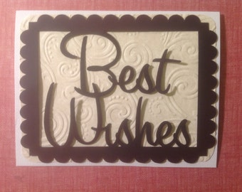 Simply Silhouettes-Make It Yourself-Greeting Card Toppers-Best Wishes - Quick, Easy, Cheap