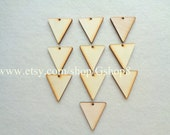 10 Wood Triangles, Unfinished Wood Triangles Tile for Jewelry,