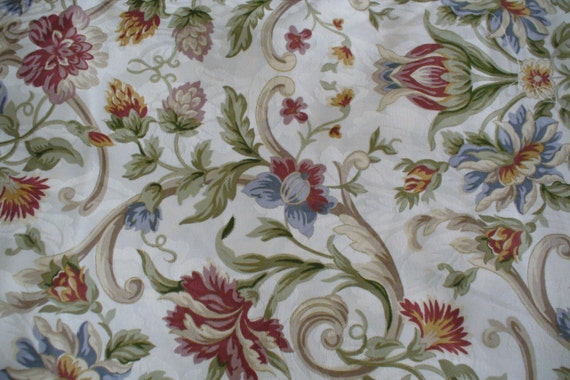 Home Decor Fabrics By The Yard: Fabric By The Yard, Cotton, Beautiful Floral Print, Home