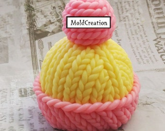 Silicone soap mold Hat with pompom