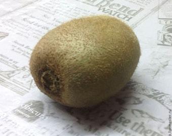 Silicone soap mold kiwi fruit