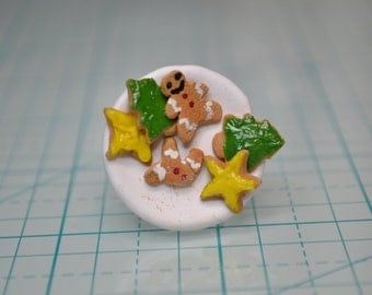 Christmas cookie plate ring