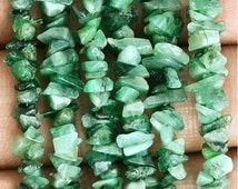 20% OFF Single Strand 100 Percent Natural Emerald Chip Beads,  34 inch Full strand, Wholesale Price  (CHEM-70001)