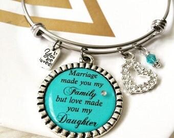 Step Daughter, Adoption, Marriage Bangle Bracelet