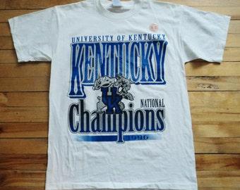 Vintage University Of Kentucky Deadstock Large T Shirt NCAA VTG