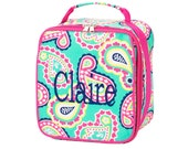 Personalized lunch box, Paisley lunch box