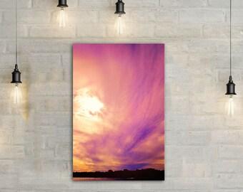 Lake Sunset Canvas Art, wall art canvas, canvas print, nature art, nature photography, nature prints, sunset art, sunset photography