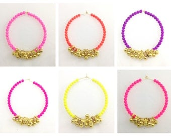 Ghungroo Hoops, Indian Ghungroo Hoops, Ghungroo Bells, Bohemian Earrings, Indian Earrings, Summer Earrings